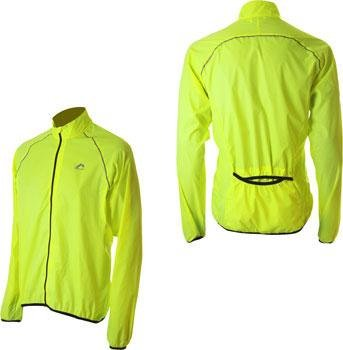 Mens More Mile Running Wind Water Resistant Jacket Fluorescent Yellow