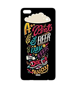 GripIt A Pint of Beer Keeps the Doctor Away Case for Micromax Canvas Silver 5