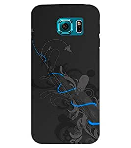 PrintDhaba Floral Pattern D-1091 Back Case Cover for SAMSUNG GALAXY S6 EDGE (Multi-Coloured)