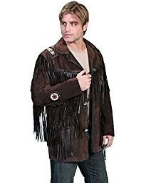 Scully Men\'s Fringed Suede Leather Coat Tall Brown 44 R