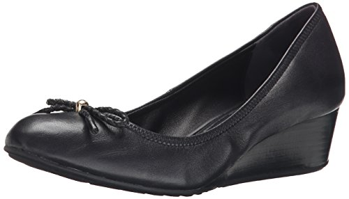 Cole Haan Women's Tali Grand Lace Wedge Pump 40mm, Black, 9 B US (Cole Haan Wedge compare prices)