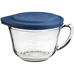 Click to buy Cool Kitchen Gadget: Kitchen Supply 2 Quart Glass Batter Bowl With Lid from Amazon!