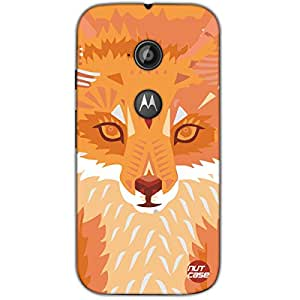 Designer Motorola Moto E2 3G Case Cover Nutcase -Wolf Cubism Art