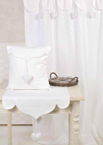 Tenda arredo 150x300 sweet blanc maricl a08425 bianco for Blanc arredamento
