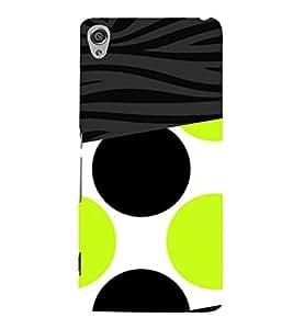 Green Black Combo Design 3D Hard Polycarbonate Designer Back Case Cover for Sony Xperia XA :: Sony Xperia XA Dual