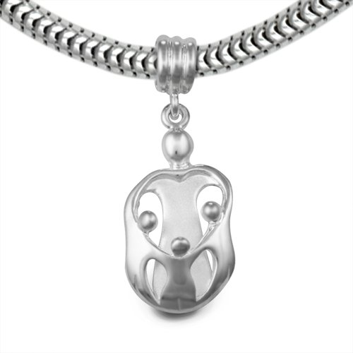 Loving Family® Sterling Silver Heart Charm Mother