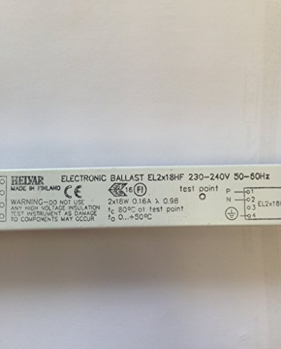 HELVAR EL2X18 HIGH FREQUENCY BALLAST (RUNS 2 X 18W T8 TUBES)