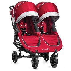 Baby Jogger City Mini GT Double Stroller, Crimson Gray by BaJogger