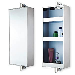 rotating hanging mirror cabinet with 3 shelves kitchen