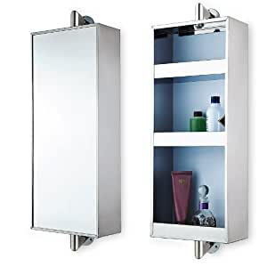 Stainless Steel Rotating Hanging Mirror Cabinet With 3 Shelves Kitchen Home