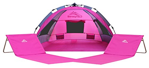 All images of C&erelli Beach Tent Bundle - 3 Items 1x Beach Tent Sun Shelter 2x Fold-up Beach Chairs (Pink)  sc 1 st  C&ing Chairs Review & Camping Chairs Review: Camperelli Beach Tent Bundle - 3 Items: 1x ...