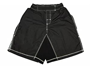 MMA Board Shorts Black with White Stitching 5XL NO LOGO
