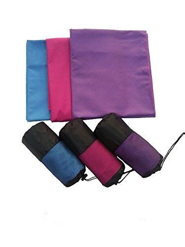RisingRainbow Viola Mega microfibra viaggi asciugamani - leggero e ad asciugatura rapida - migliore per palestra, il campeggio, trekking, golf, yoga, nuoto, attività all'aria aperta (Viola, Mega - 150x80cm)
