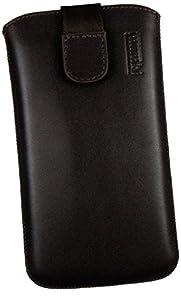 mumbi ECHT Ledertasche Samsung Galaxy S4 Leder Tasche Etui (Lasche mit Rückzugfunktion) braun