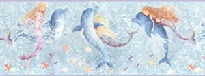 Mermaids and Dolphins Wall Border