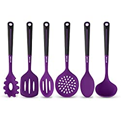 Art and Cook 6 Piece Silicone Utensil Set, Purple