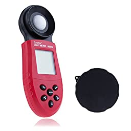 Sunche™ 200,000 Lux Digital Light Meter HS1010 Lux FC Meter Luminometer Photometer Meters LCD Screen for Environmental Illumination Testing