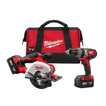 Milwaukee 2698-22 M18 Cordless Combo Compact Hammer Drill/Metal Saw/2 Battery (1 2 Hammer Drill Reconditioned compare prices)