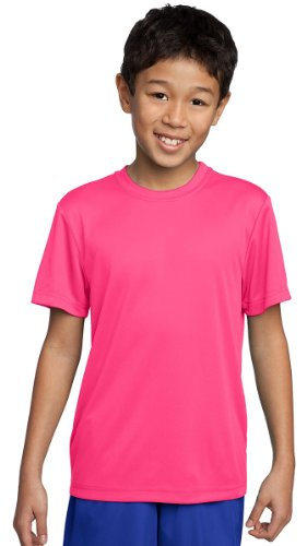 Sport-Tek Youth Comfort Lightweight Competitor T-Shirt_Neon Pink_M front-506215