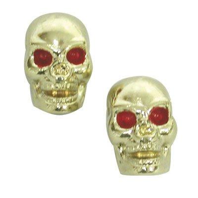Trick Tops Gold Skull Custom Valve Caps