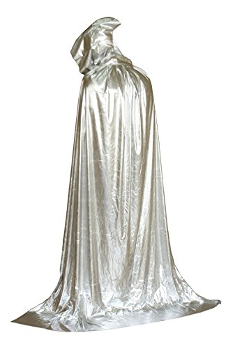 MERRYCOCO Halloween Costumes 2016 Unisex Hooded Cape Sorcerer Cloak(Silver) (Adult Halloween Costumes Ideas 2016)