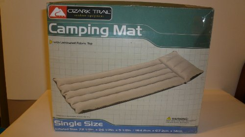 "Ozark Trail Camping Mat With Laminated Fabric Top 10""X2.5""X 8.75"" front-364390"