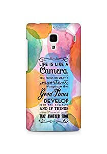 AMEZ life is like a camera Back Cover For Xiaomi Redmi 1S