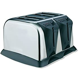 West Bend 78004 4-Slice Toaster, Stainless Steel