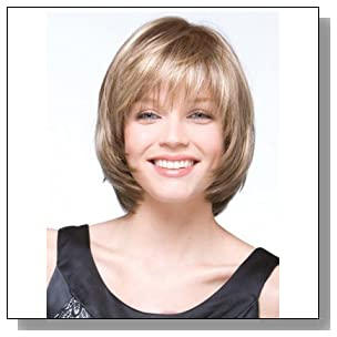 Magic Wig World Classical Short Blonde Bob Synthetic Wig Hairstyle