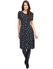 M&S Collection Floral Ruched Tea Dress