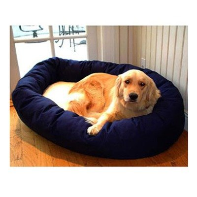 Majestic Pet 40-Inch Sherpa Bagel Bed for Pets, Blue