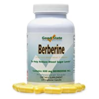 Berberine HCL 400 Mg 120 Vegetarian Capsules (120)