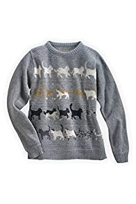 Green 3 Apparel USA made Retro Kitty Sweater