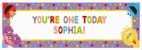 Sesame Street 1st Birthday - Personalize Giant Sign Banner - 1