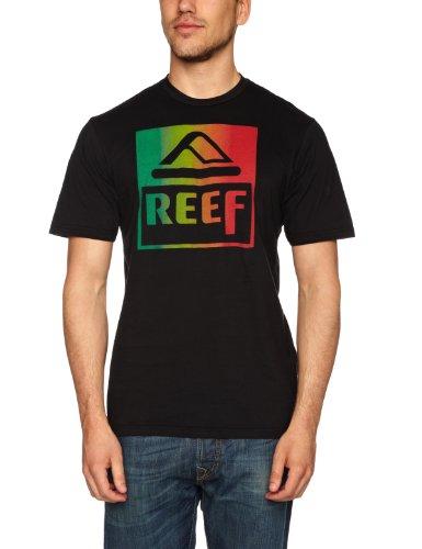 Reef Classic Block Tee Logo Men's T-Shirt Black Small