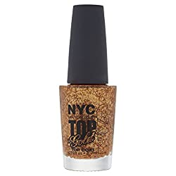 N.Y.C. New York Color Minute Nail Enamel, Top Of The Gold, 0.33 Fluid Ounce