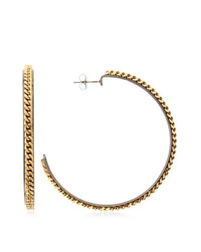 a.v. max Chain Hoop Earrings