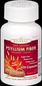 Konsyl Capsules Psyllium Fiber Capsules, 100 Count