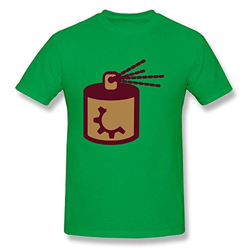 Pthf Men Spray Paint Aerosol Cotton Tshirt Xs Forestgreen