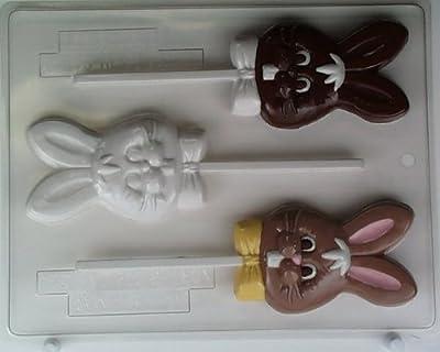 Bunny's head w/ buck teeth & bowtie E062 Easter Chocolate Candy Mold