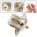 UHF Female SO239 Panel Chassis Mount Flange Deck Mount Solder Cup RF Connector