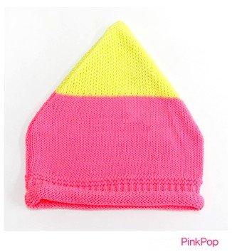 ベビー 帽子 春夏 ネオンカラー ニット帽 新生児 帽子 キッズ 帽子 子供用 khb-016 (ピンク)