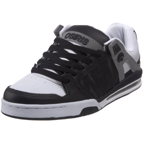 Osiris Men's Pixel Skate Shoe,Black/Grey/White,12 M US