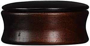 Kingsley Shave Soap Bowl with Lid Dark Wood