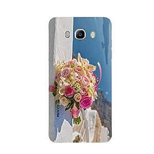 RICKYY _J5_1085 Printed Matte designer bunch of flowers case for Samsung J5