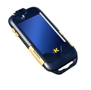 Kendau Fahrradhalterung für iPhone 4/4S und iPhone 3/3GS, Schwarz-Orange