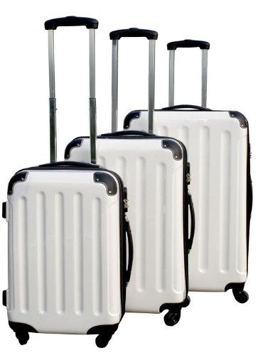 Polycarbonat Kofferset 3tlg mit ABS Weiß