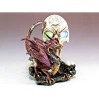 Everspring Skull And Dragon With LED Light Figurine