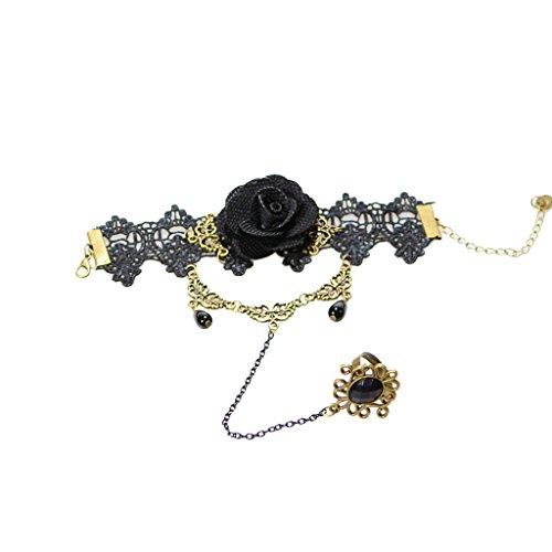 anazoz-joyeria-de-moda-brazalete-pulsera-de-mujer-encaje-pulsera-cordon-de-rosa-negro-con-anillo-una