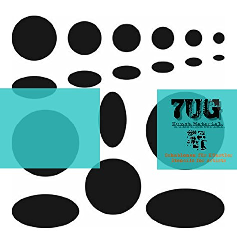 Designer schablone motiv kreis oval circle 7ug 010 - Wandgestaltung kreise ...